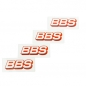 Mobile Preview: 4x BBS Aufkleber Felgen (20x60 mm) Sticker Logo Auto Tuning Optik Styling Decal