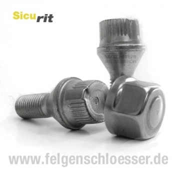 SW 21 M14x1,5 Mutter: Offen Kegel 60/° Felgenschloss Muttern Sicurit